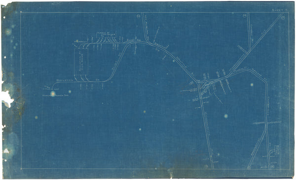 Boston Elevated Railway Co. Track Plans 1908 Plate 15