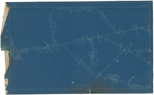Boston Elevated Railway Co. Track Plans 1908 Plate 17