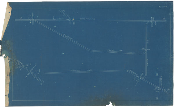 Boston Elevated Railway Co. Track Plans 1908 Plate 19