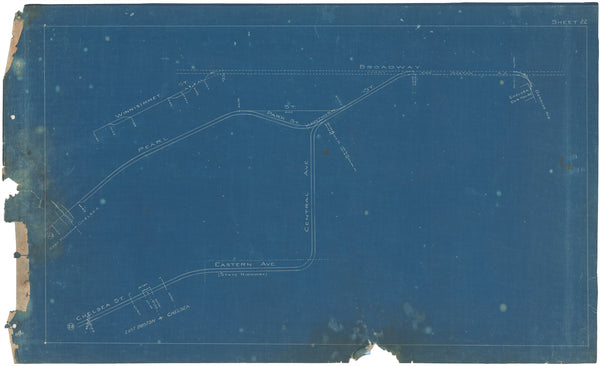 Boston Elevated Railway Co. Track Plans 1908 Plate 22
