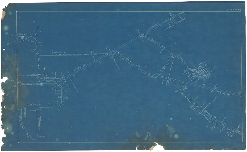 Boston Elevated Railway Co. Track Plans 1908 Plate 23