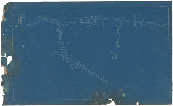 Boston Elevated Railway Co. Track Plans 1908 Plate 24