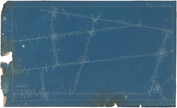 Boston Elevated Railway Co. Track Plans 1908 Plate 25