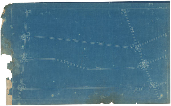 Boston Elevated Railway Co. Track Plans 1908 Plate 26
