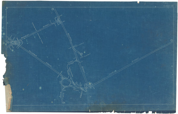 Boston Elevated Railway Co. Track Plans 1908 Plate 28