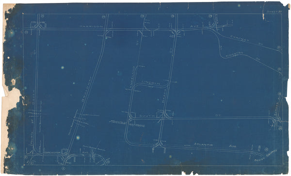 Boston Elevated Railway Co. Track Plans 1908 Plate 30