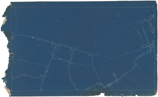Boston Elevated Railway Co. Track Plans 1908 Plate 31