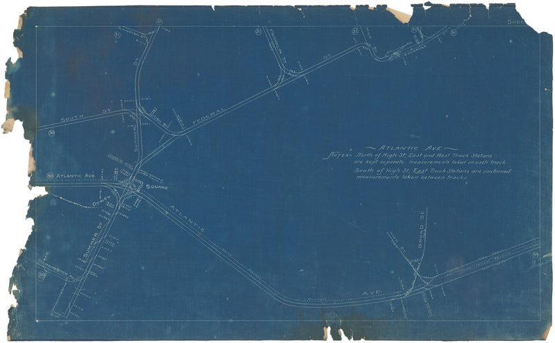 Boston Elevated Railway Co. Track Plans 1908 Plate 32