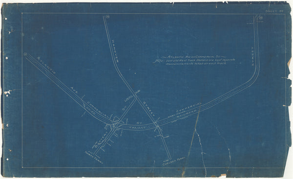 Boston Elevated Railway Co. Track Plans 1908 Plate 34