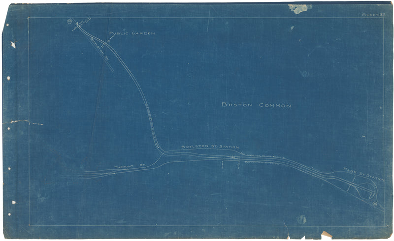 Boston Elevated Railway Co. Track Plans 1908 Plate 35
