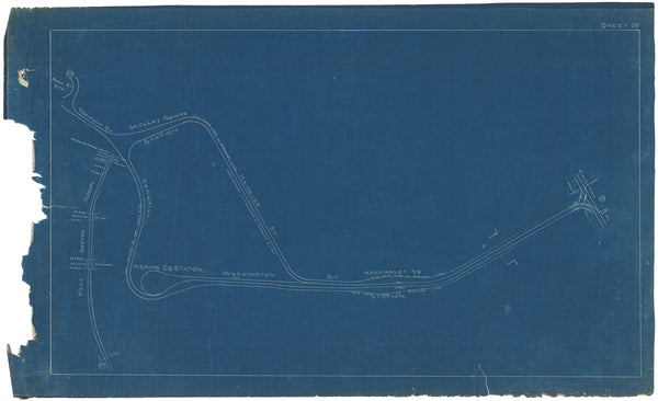 Boston Elevated Railway Co. Track Plans 1908 Plate 36