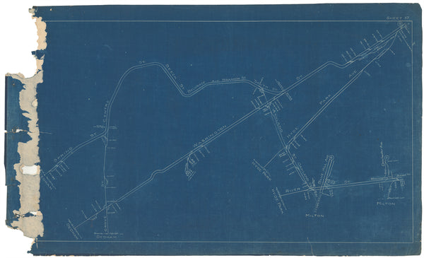 Boston Elevated Railway Co. Track Plans 1908 Plate 37