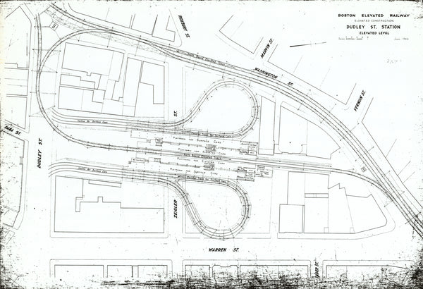 Dudley Street Terminal Elevated Level Plan June 1906