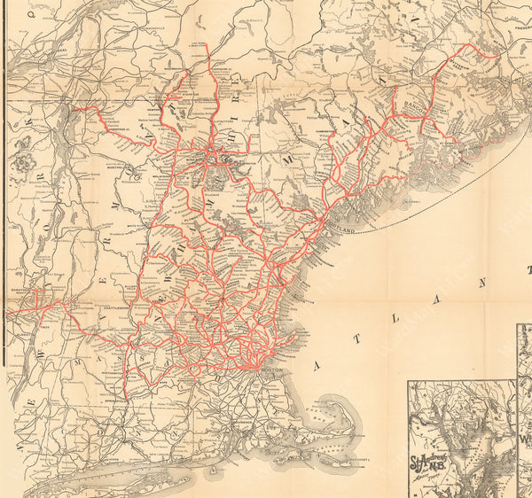 Boston & Maine Railroad System Map 1901