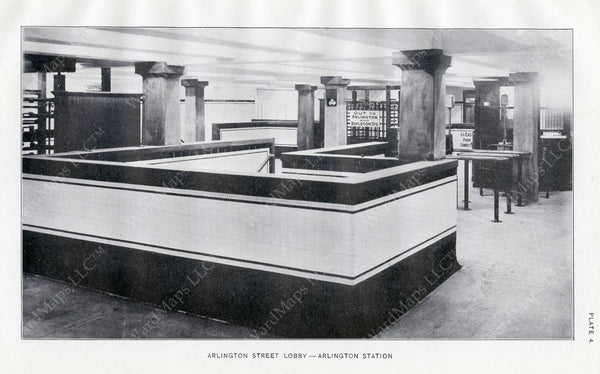 BTD Annual Report 1921 Plate 04: Arlington Station Lobby