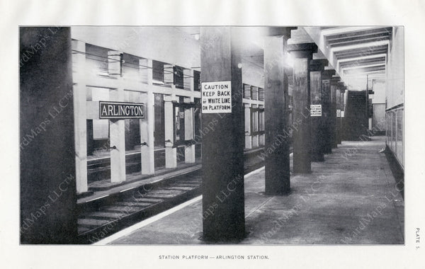 BTD Annual Report 1921 Plate 05: Arlington Station Platform