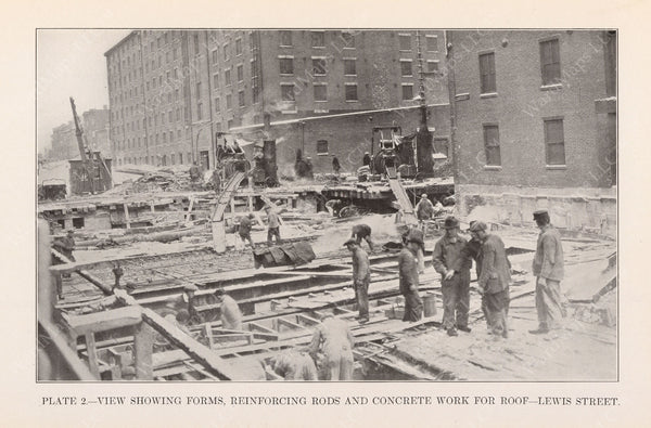 BTD Annual Report 1925 Plate 02: Subway Work on Lewis Street
