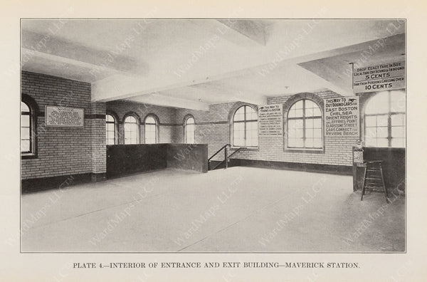 BTD Annual Report 1925 Plate 04: Maverick Station Head House Interior