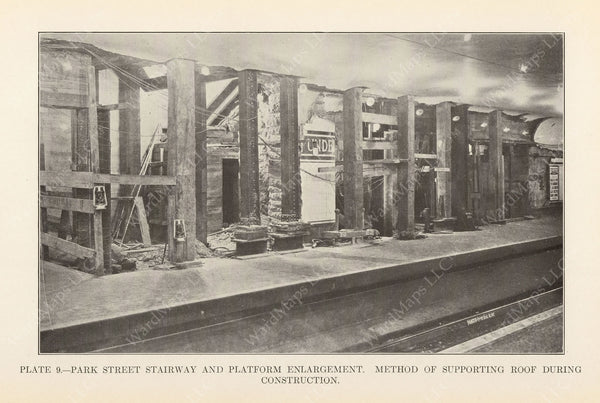 BTD Annual Report 1925 Plate 09: Park Street Under Renovation