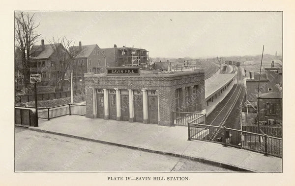 BTD Annual Report 1927 Plate 04: Savin Hill Station Head House