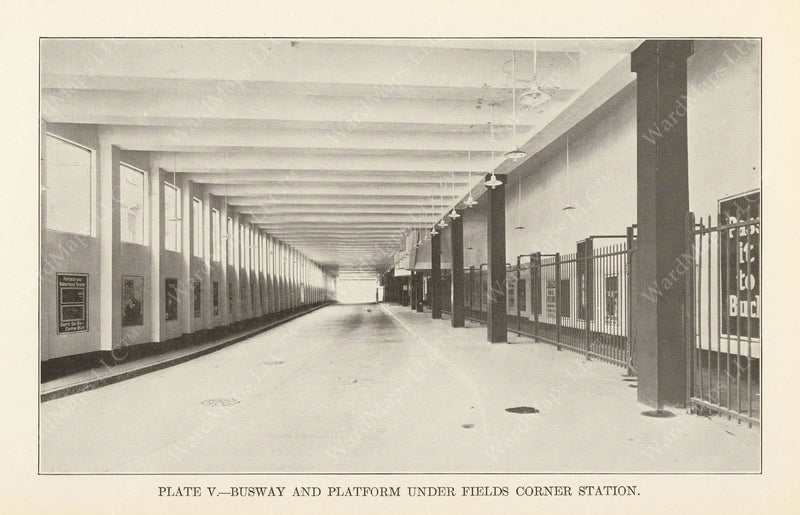 BTD Annual Report 1927 Plate 05: Fields Corner Station Busway