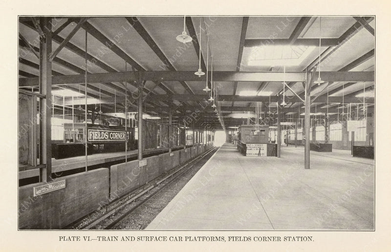 BTD Annual Report 1927 Plate 06: Fields Corner Station Interior