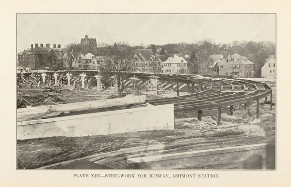 BTD Annual Report 1927 Plate 13: Ashmont Station Busway Steelwork