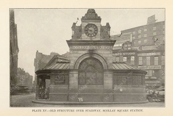 BTD Annual Report 1927 Plate 15: Scollay Square Station, Existing Head House