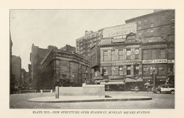 BTD Annual Report 1927 Plate 16: Scollay Square Station, New Entrance