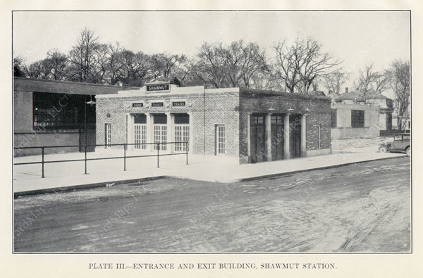 BTD Annual Report 1928 Plate 03: Shawmut Station Head House