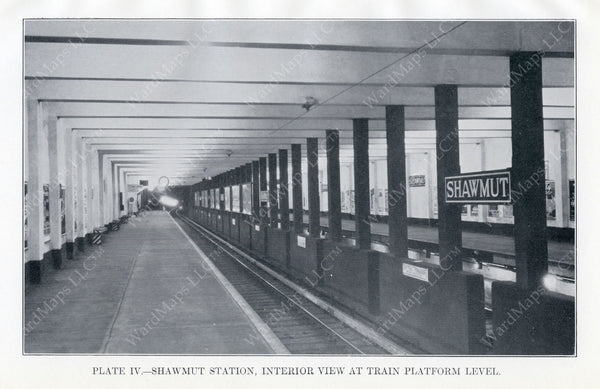BTD Annual Report 1928 Plate 04: Shawmut Station Interior