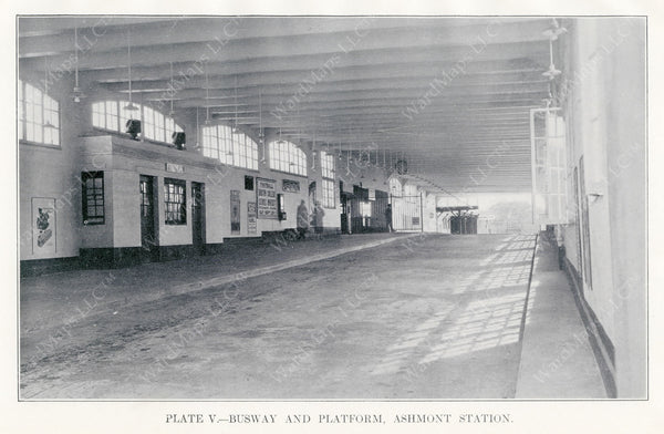 BTD Annual Report 1928 Plate 05: Ashmont Station Busway Interior