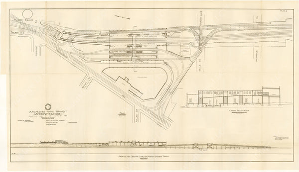 BTD Annual Report 1928 Plate 06: Plan of Ashmont Station
