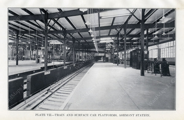 BTD Annual Report 1928 Plate 07: Ashmont Station Interior