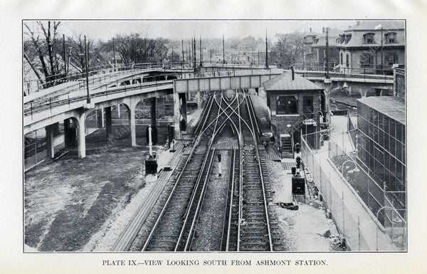 BTD Annual Report 1928 Plate 09: View South from Ashmont Station