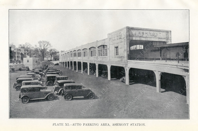 BTD Annual Report 1928 Plate 11: Ashmont Station Busway Exterior