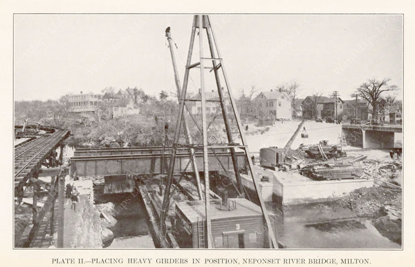 BTD Annual Report 1929 Plate 02: Mattapan HSL, Neponset River Bridge