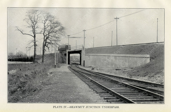 BTD Annual Report 1929 Plate 04: Mattapan HSL, Shawmut Junction Overpass