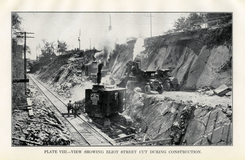 BTD Annual Report 1929 Plate 08: Eliot Street Cut Construction