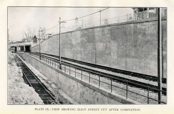 BTD Annual Report 1929 Plate 09: Eliot Street Cut