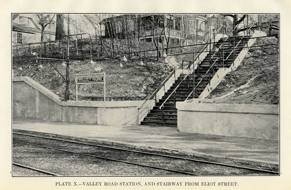 BTD Annual Report 1929 Plate 10: Valley Road Station