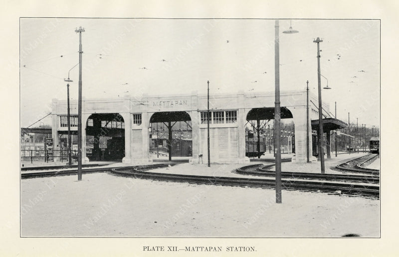 BTD Annual Report 1929 Plate 12: Mattapan Station