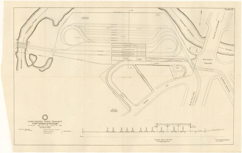 BTD Annual Report 1929 Plate 08: Plan of Mattapan Station