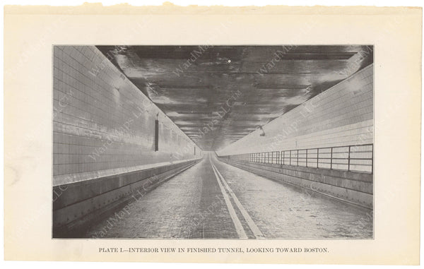 BTD Annual Report 1934 Plate 01: Sumner Tunnel Interior