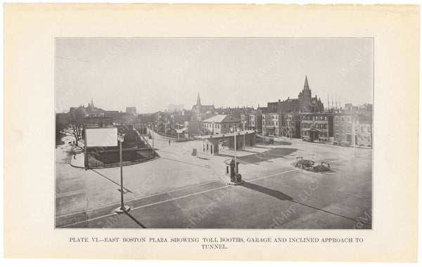 BTD Annual Report 1934 Plate 06: Sumner Tunnel East Boston Entrance