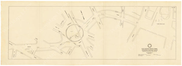 BTD Annual Report 1934 Plate 08: Traffic Improvements, Sumner Tunnel - Haymarket Square