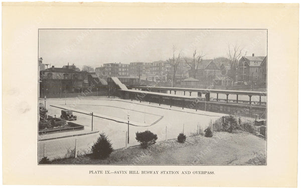 BTD Annual Report 1934 Plate 09: Savin Hill Station Busway