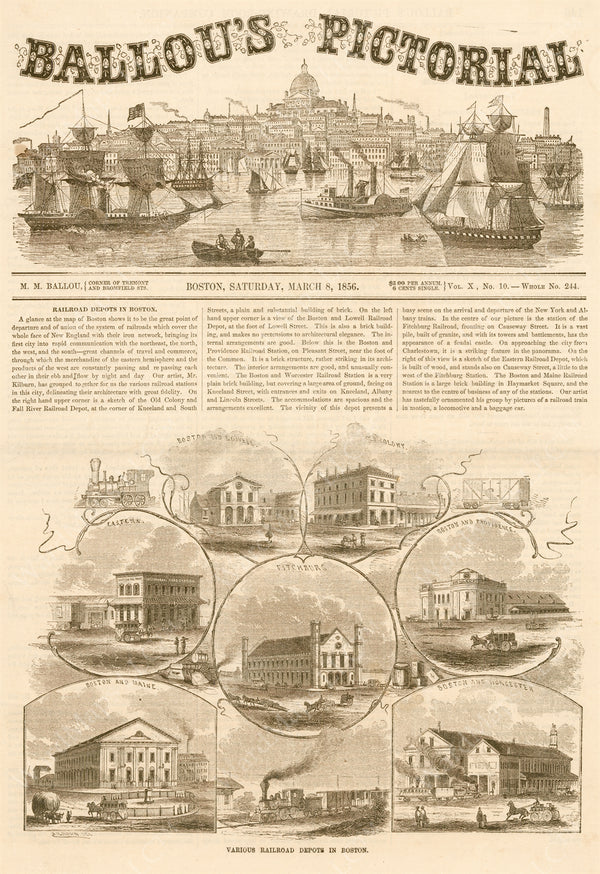 Boston's Steam Railroad Passenger Terminals 1856