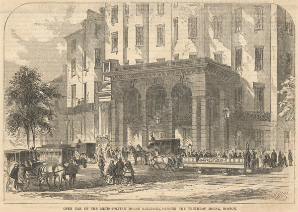 Bowdoin Square, Boston, Massachusetts April 25, 1857