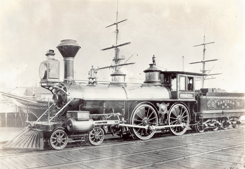 "Eastern Railroad Locomotive ""Cape Ann"" October 20, 1860"